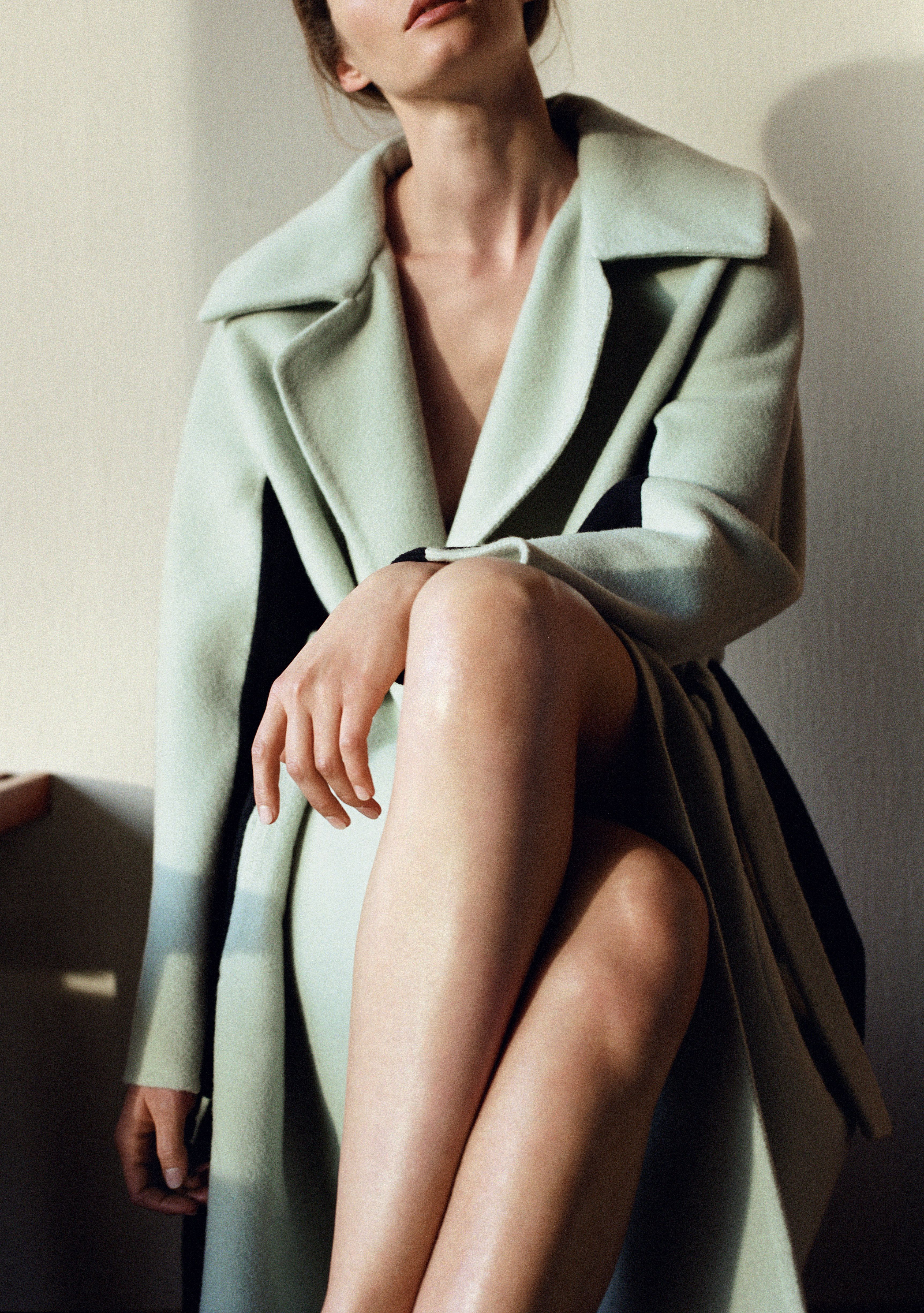 Pale Sage Green Coat Pinned By Dauphine Magazine X