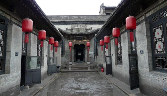 Traditional houses in Pingyao, China.