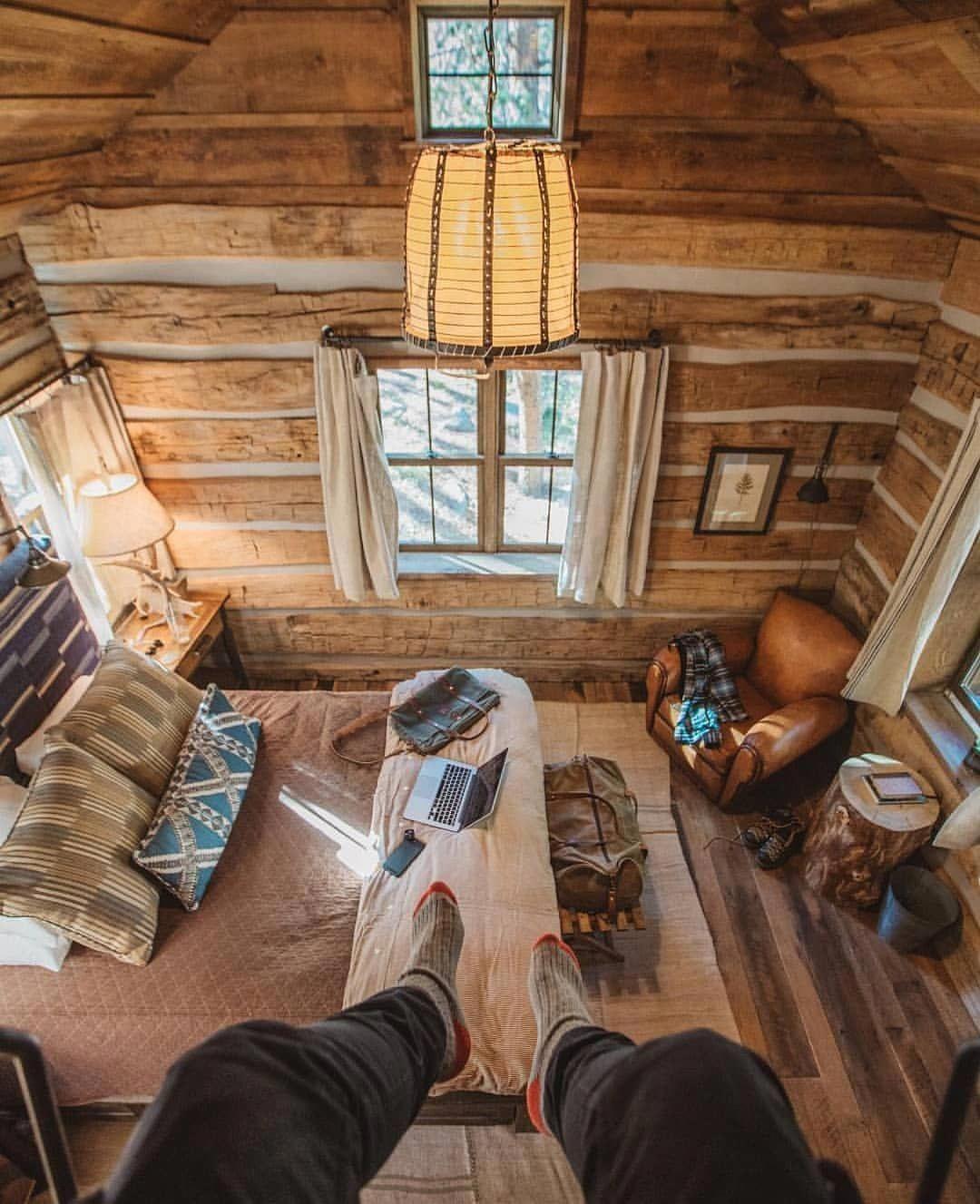 Pin by Karmen Klug on cabin Cozy cabin bedrooms, Cozy