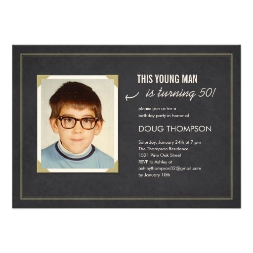 Funny Invitation Cards Birthday Beetle with desired text 30 40 50 60 70 80