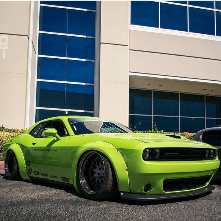 Liberty Walk Challeneger Whips And Lifts Dodge