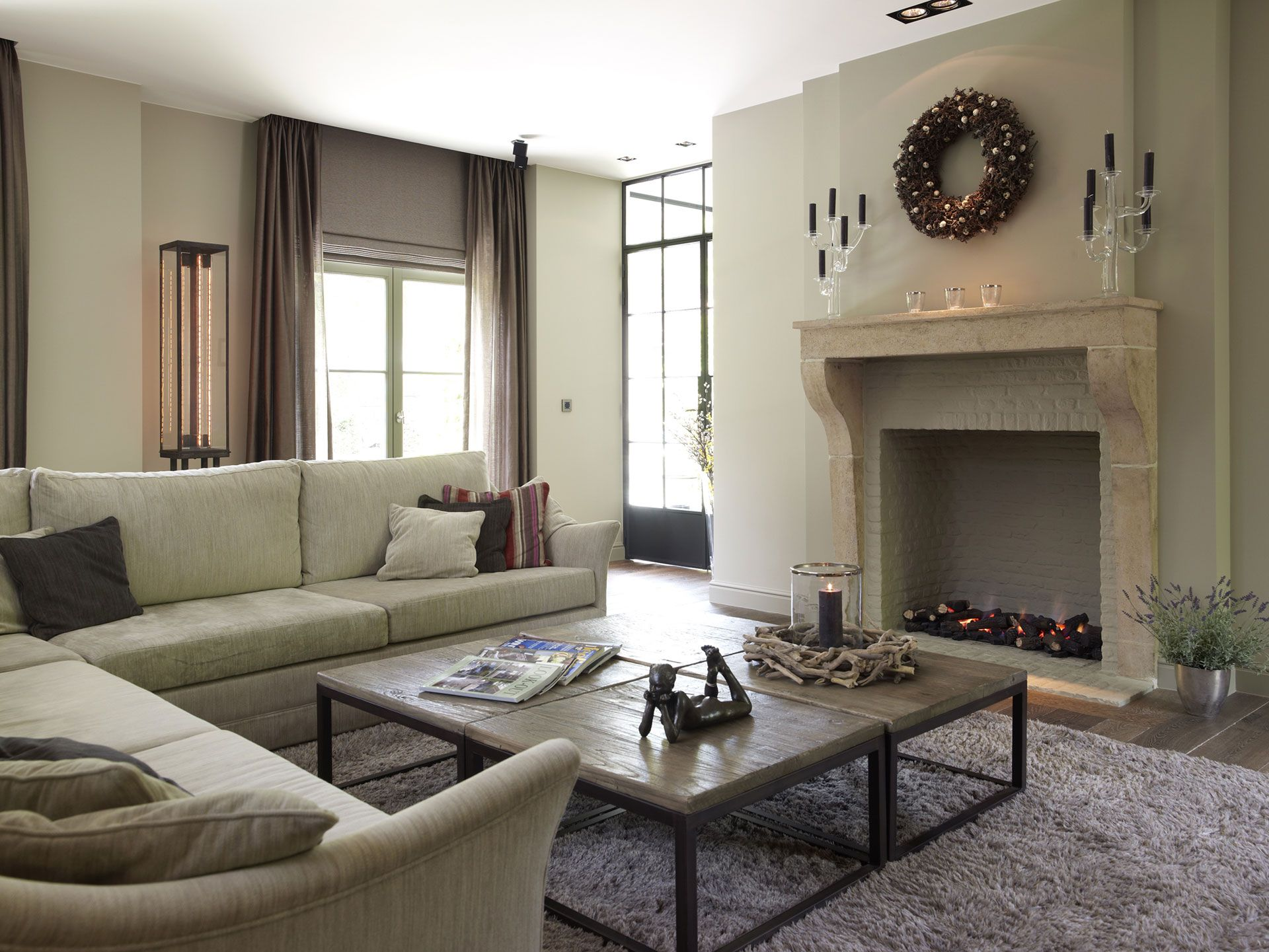 Fire Place Belgian Styleluxury Living Roomsfireplace