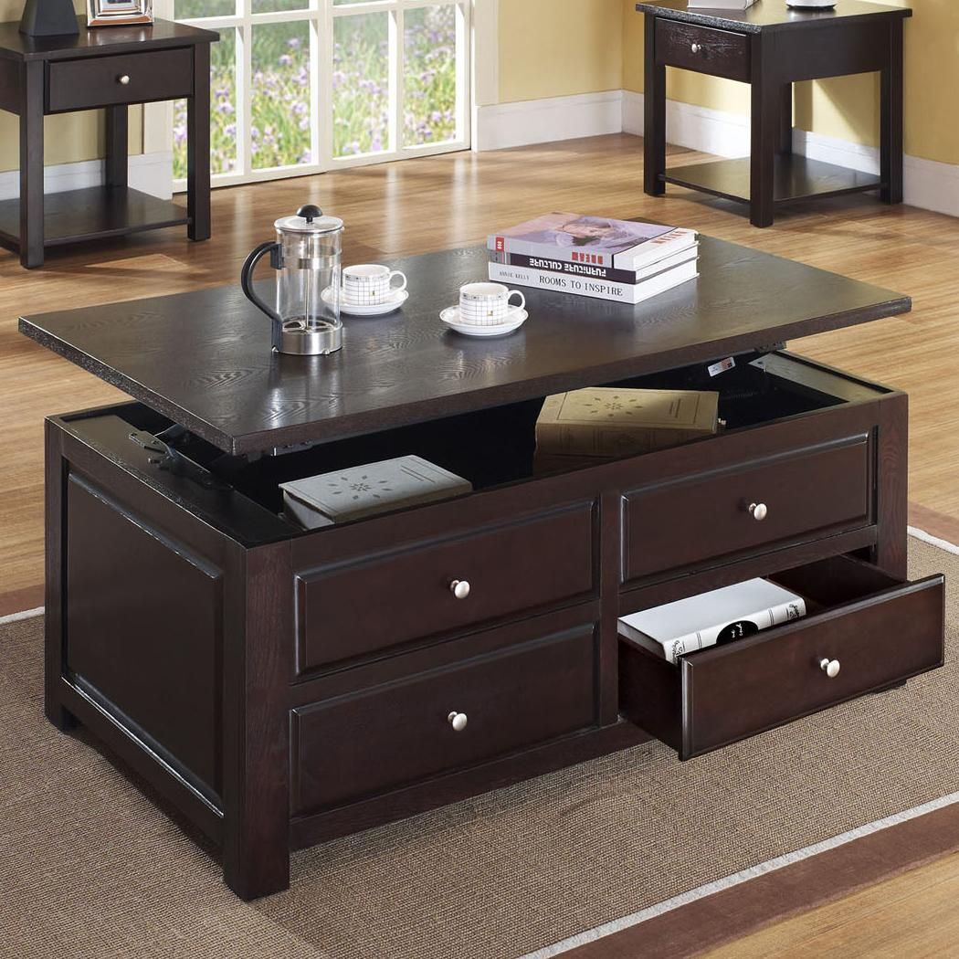 Best Acme Furniture Malden Contemporary Lift Top Coffee Table 400 x 300