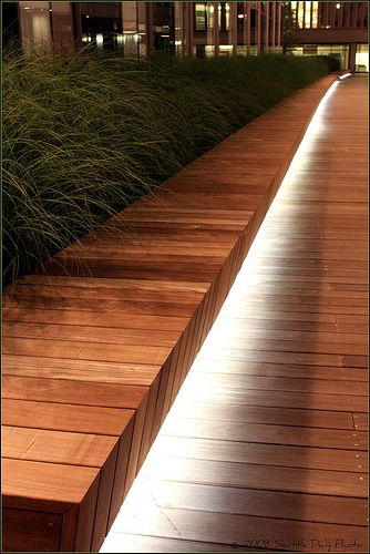 exit lights bench lighting pinterest garten beleuchtung und terrasse. Black Bedroom Furniture Sets. Home Design Ideas