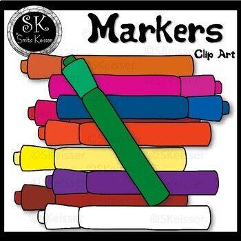Markers Clip Art Freebie, Smita Keisser