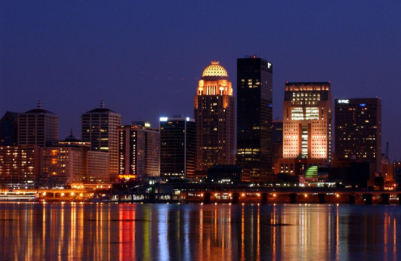 Louisville city center Louisville Night Skyline photos