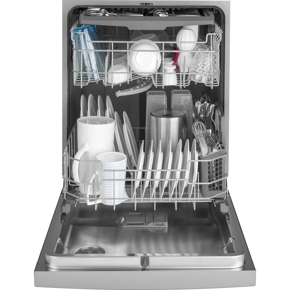 Ge 24 in front control builtin tall tub dishwasher in