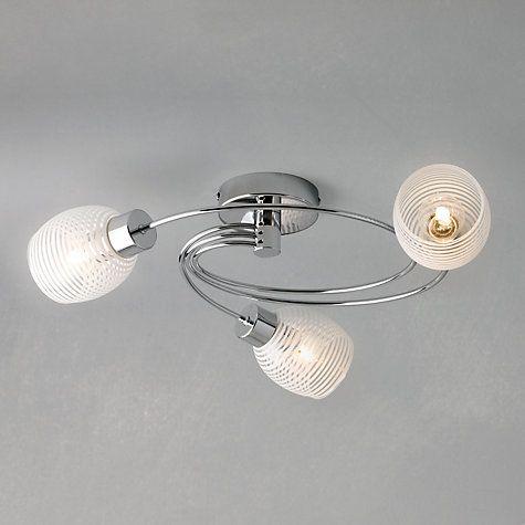 john lewis partners maya 3 arm ceiling light living. Black Bedroom Furniture Sets. Home Design Ideas