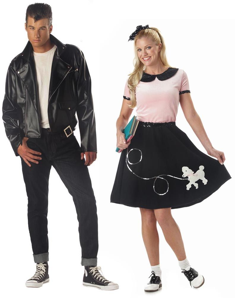 50s Greaser & poodle Skirt. Couple Costume IdeasGreaser ...