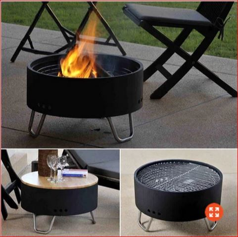 Fire PitGrillTableGreat Idea FurnitureFurnishings - Grill table fire pit all in one