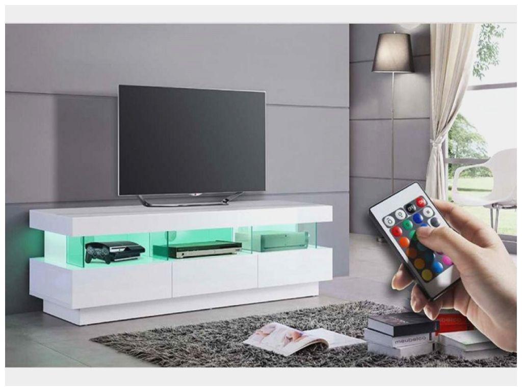 led blanc tonni frais meuble tv