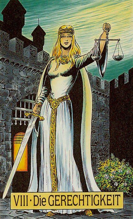 Justice - Arcus Arcanum Tarot   Tarot 11 / 8 Justice