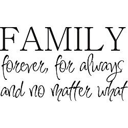 Design on Style u0027Family Foreveru0027 Vinyl Wall Art Quote  sc 1 st  Pinterest : family quotes vinyl wall art - www.pureclipart.com