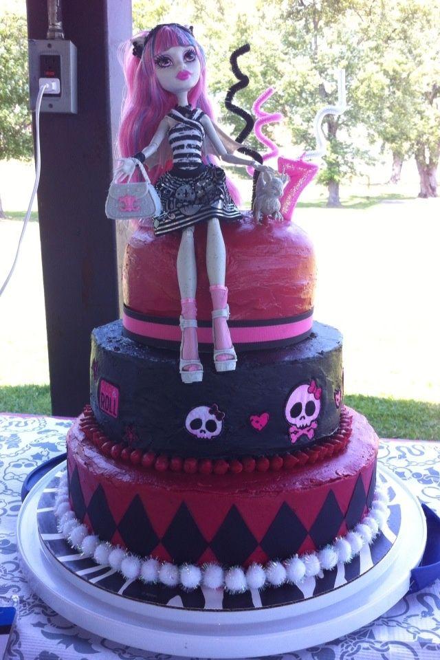 Excellent Monster High Doll Cake Images Monster High Cake Ideas Monster Personalised Birthday Cards Sponlily Jamesorg