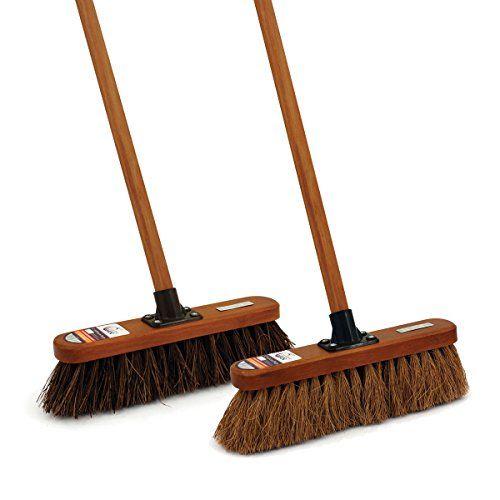 Charles Bentley Home Countryman Cleaning Broom Set Indoor Outdoor Sweeping Handle Yard