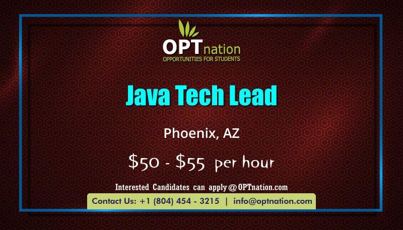 Java Tech Lead Job Posting Job How To Apply