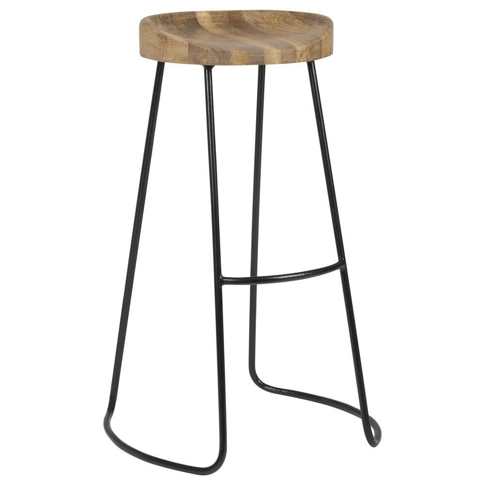 Wood And Steel Bar Stools Barhocker Hocker Holz