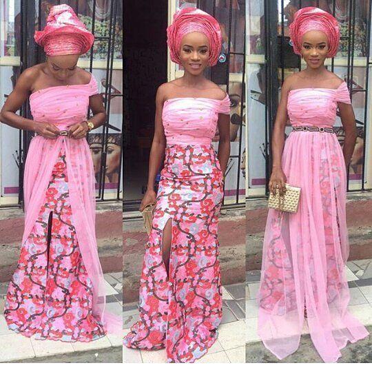 Absolutely breathtaking  #asoebi #asoebispecial #speciallovers #wedding #makeover #dress #headgear @haryourmiide #in @lharmmy #facebeatby @beautybypmstouch