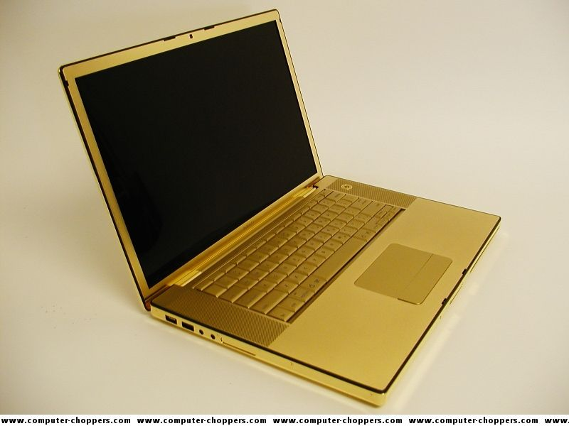 Black and Gold Offices | Platinum, gold-plated Mac Book Pro for sale