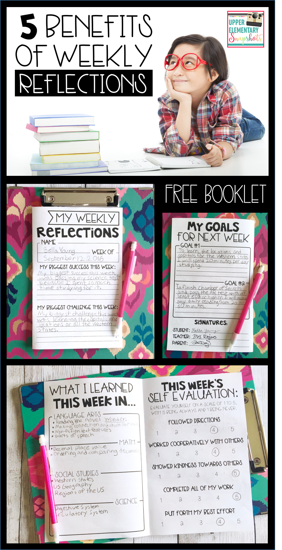 5 Benefits of Weekly Reflections | Teaching Ideas | Classroom