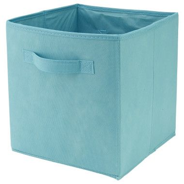Storage Bin Cube Blue 10 5 Quot X 10 5 Quot X 11 Quot Dollar General With Images Storage Bins Fabric Storage Bins Cube Storage Bins