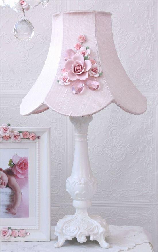 Vintage inspired fairytale pink lamp shade with rose bouquet vintage vintage inspired fairytale pink lamp shade with rose bouquet vintage victorian shabby aloadofball Choice Image