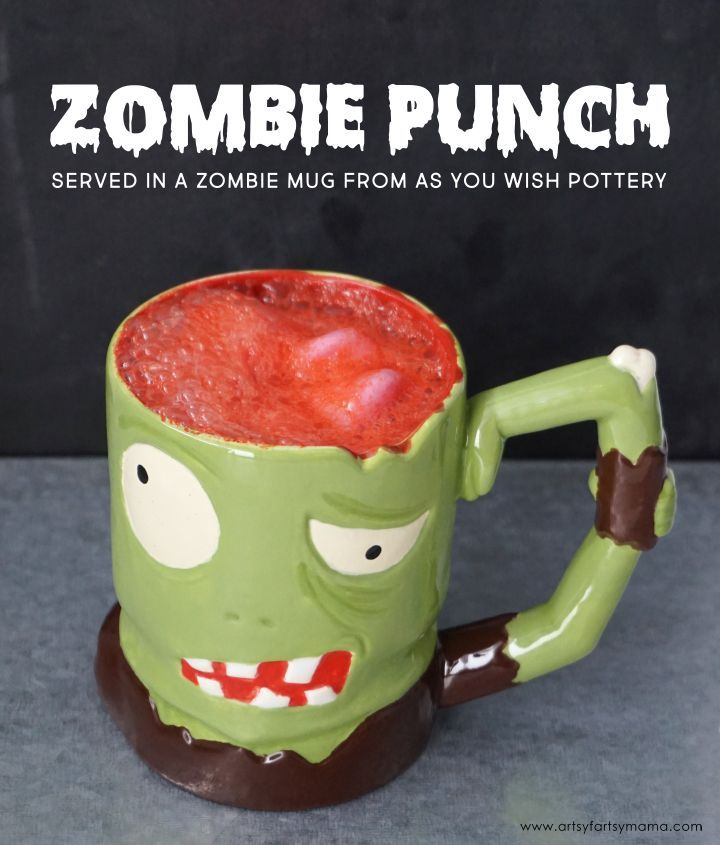 Zombie punch recipe punch recipes easy and recipes easy zombie punch recipe for halloween served in a custom painted zombie mug from as forumfinder Images