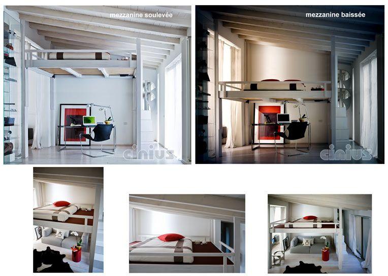 lit mezzanine a hauteur reglable