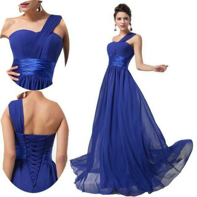 Vestido Azul Vestido De Graduacion Vestidos Vestidos Azul Rey