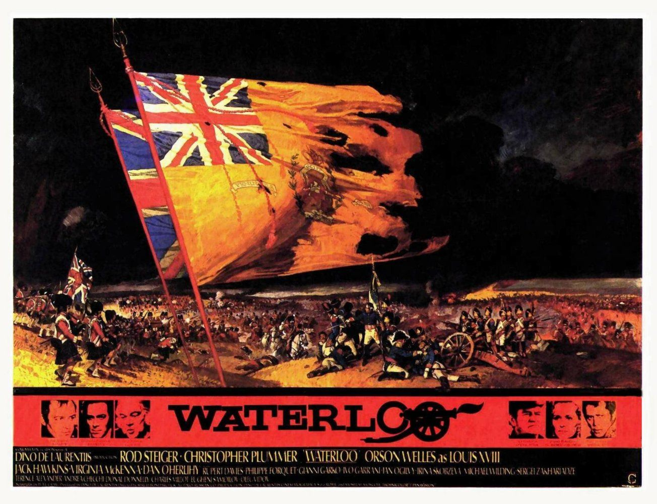 Waterloo (1970) | Old movie posters, Film posters, Historical film