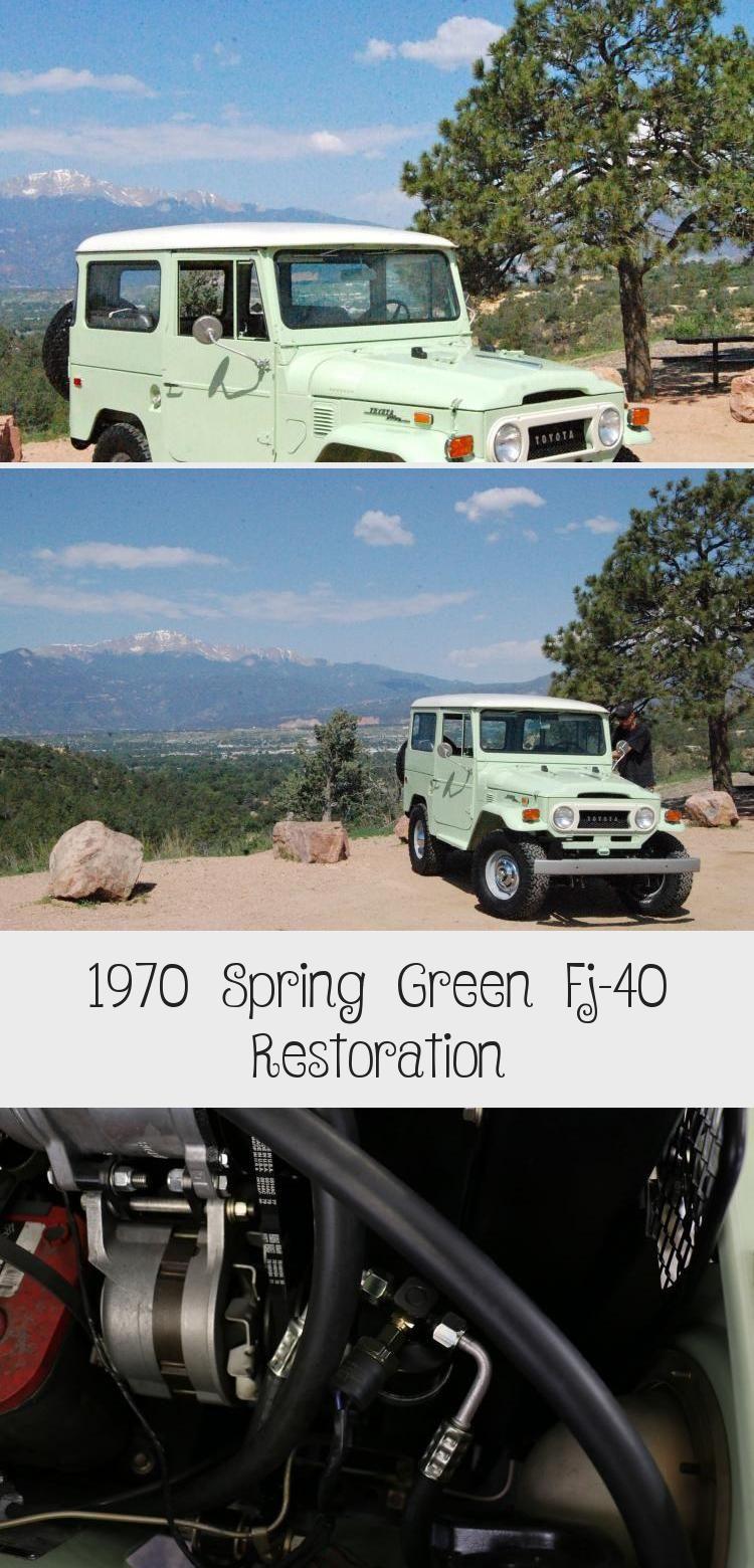 1970 Toyota Land Cruiser  FJ-40 Spring Green Restoration