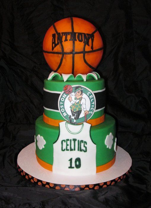 Boston Celtics Cake Thats Clever Pinterest Cake Birthday