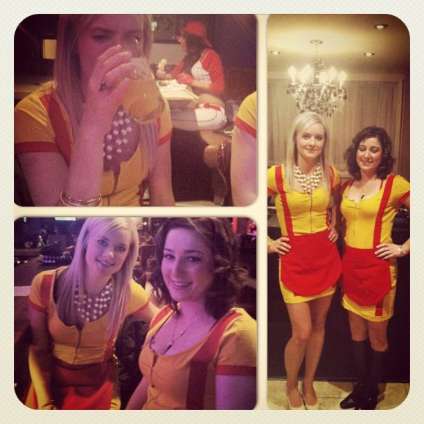 Halloween Costume Diy Two Broke Girls Halloween Halloween