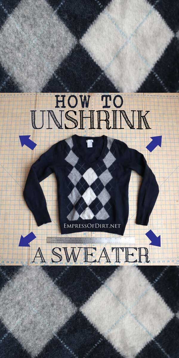 how to un shrink a wool sweater tips hacks helpful information unshrink clothes wool. Black Bedroom Furniture Sets. Home Design Ideas
