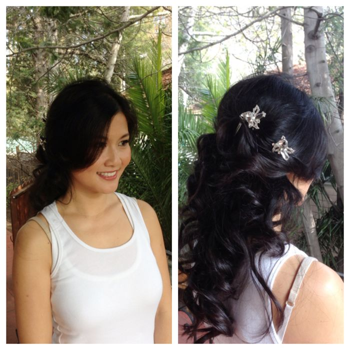 Asian Wedding Hairstyle: San Francisco Makeup Hair Bridal, Wedding