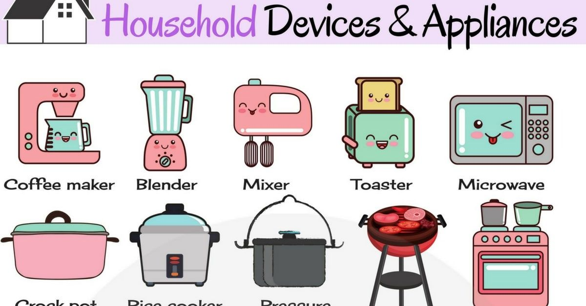 819shares Useful List Of Household Appliances In English With Pictures Household Devices And A Household Electrical Appliances Household Appliances Appliances