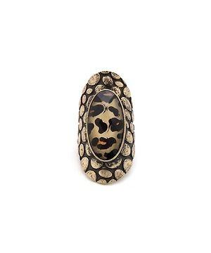 leopard jewel shield ring   $6.00