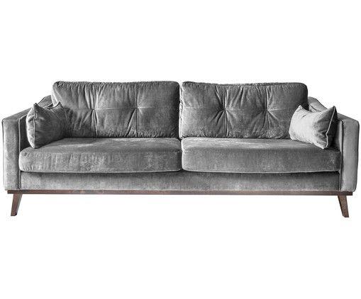 Schlafsofa Landhausstil Malerei : Samt sofa almana 3 sitzer westwing und
