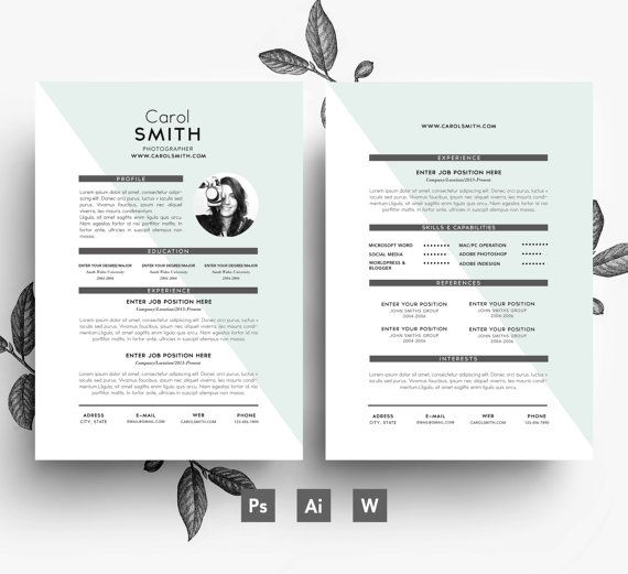 Easy Editable Resume Template  Editable Cover Letter Template