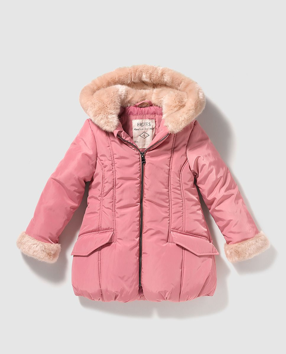 0a3b0dd4b cheaper be2b5 3ae38 brotes baby girls pink parka with toggles ...