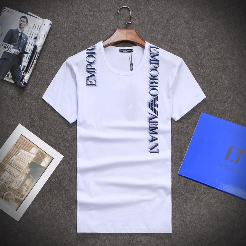 2df191010 Armani mens short sleeve t-shirts, replica tees & tops, modal material,  100% cotton #ARMATSH-1368 [ARMATSH-1368] | Replica Shop | www.hryapp.com