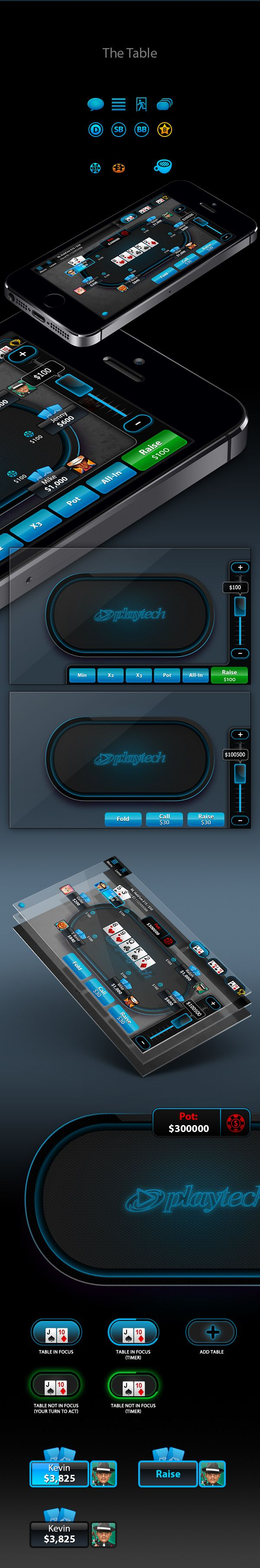 A full iPhone poker game, including game table, lobby