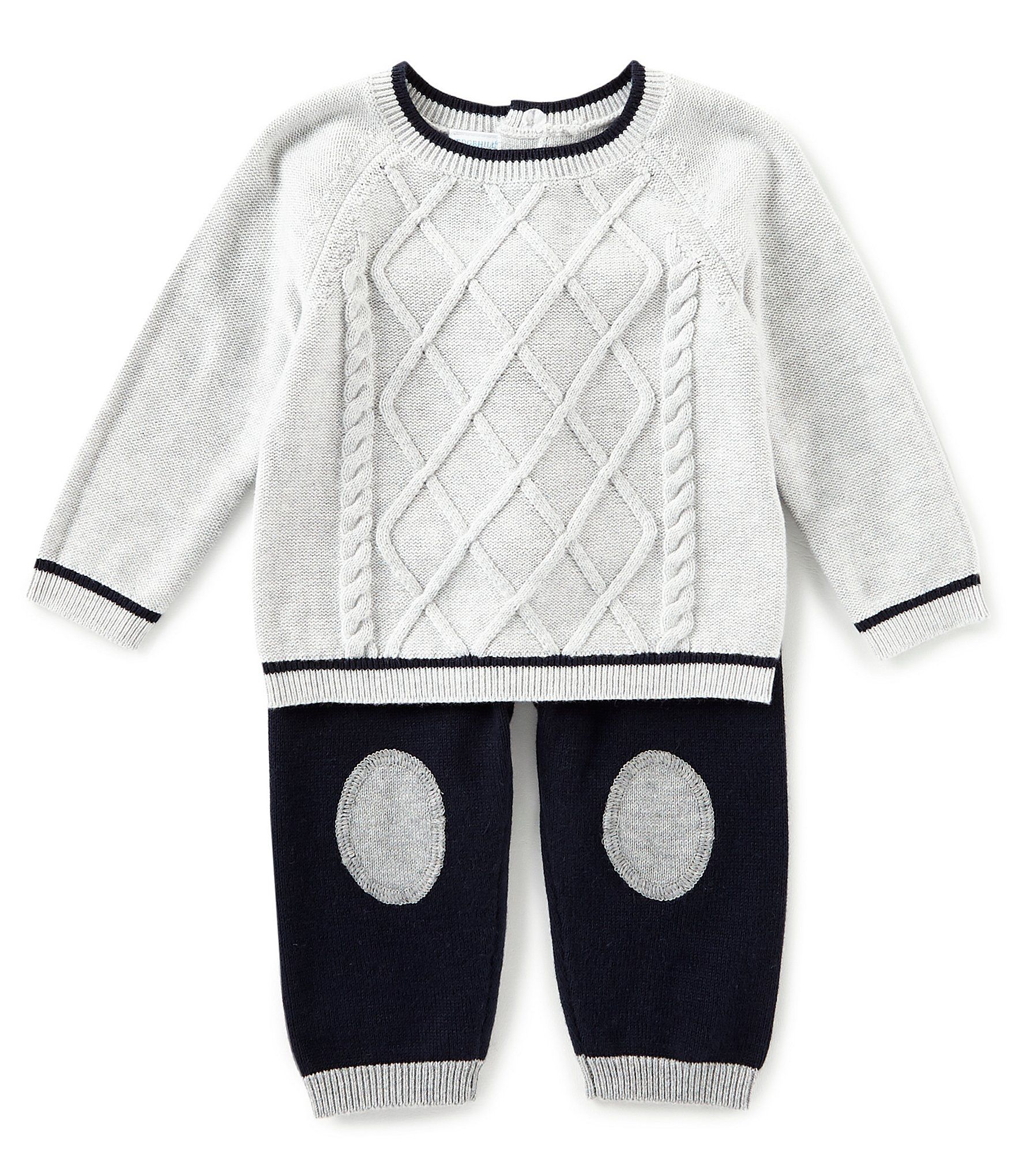 39c55ae50 Edgehill Collection Baby Boys Newborn-6 Months Long Sleeve Sweater ...