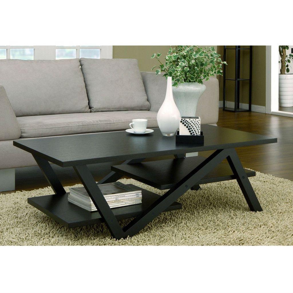 Modern Z Shape Coffee Table In Black Wood Finish Coffee Table Black Coffee Tables Coffee Table Design [ 1024 x 1024 Pixel ]