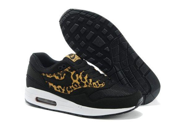 Gruñido Triatleta famélico  Nike Air Max 1 87 Mens Shoes 2014 New Black LeoPard   Nike air max, Air max  1, Nike air