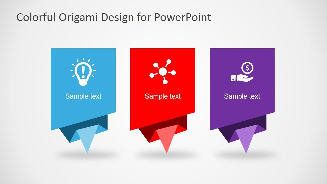 Colorful origami design layout for powerpoint origami design colorful origami design layout for powerpoint alramifo Gallery