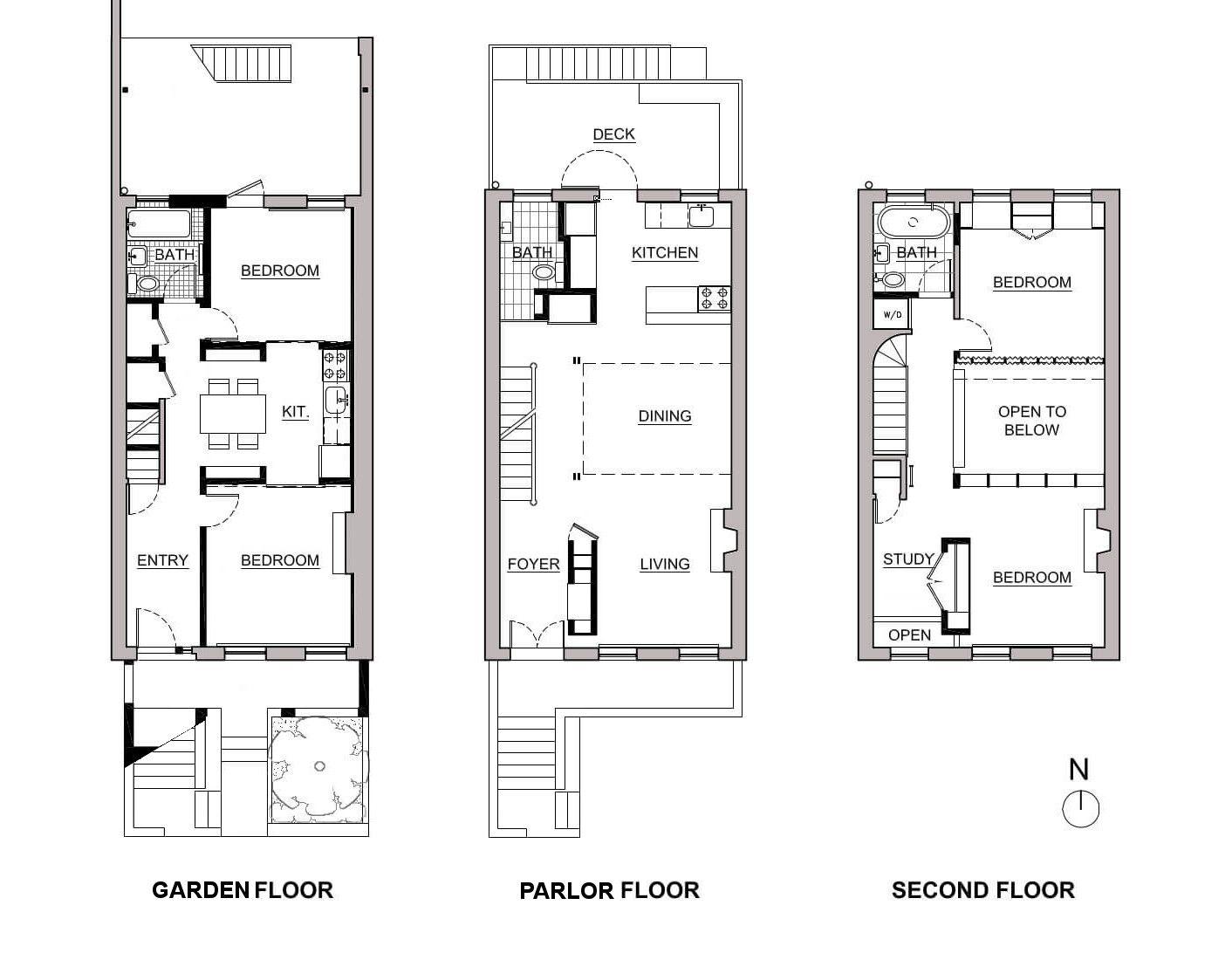 Prospect Heights Row House Floor Plans Row House Floor Plans How To Plan