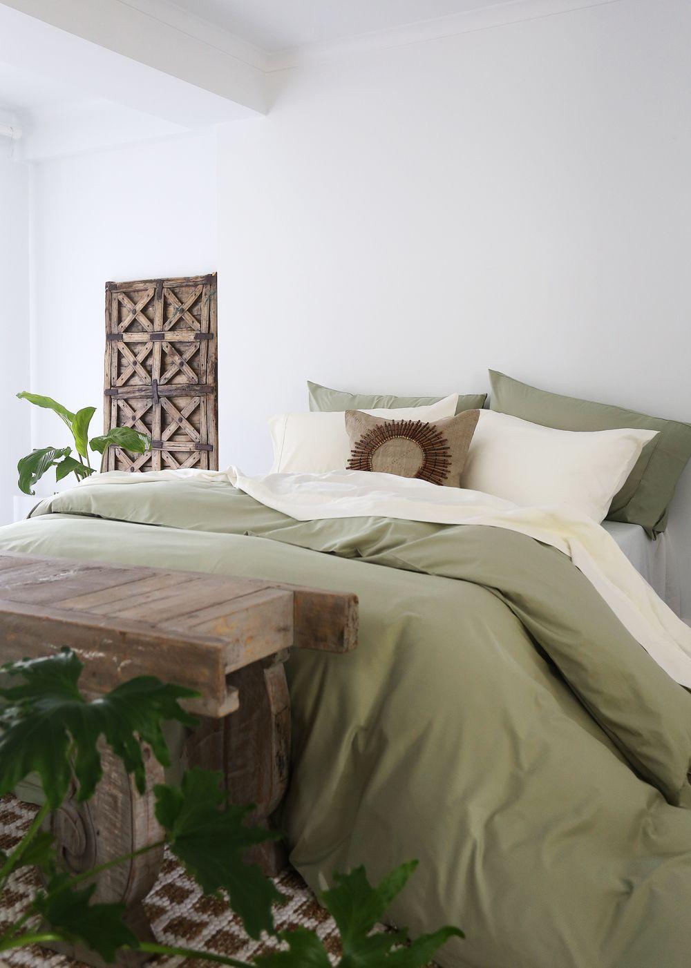 green tea // shop Cozy small bedrooms