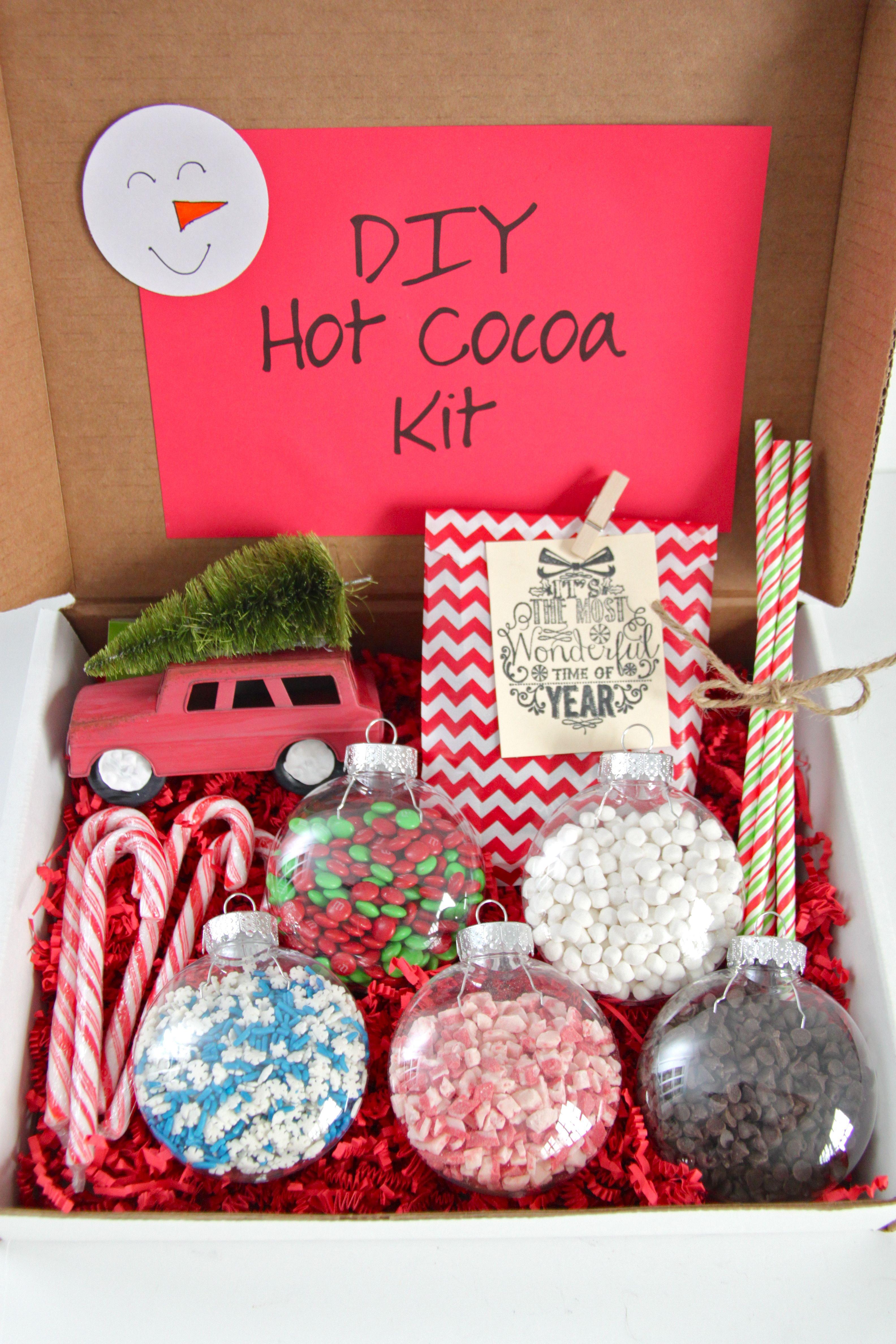 Gift idea diy hot cocoa kit smashed peas carrots