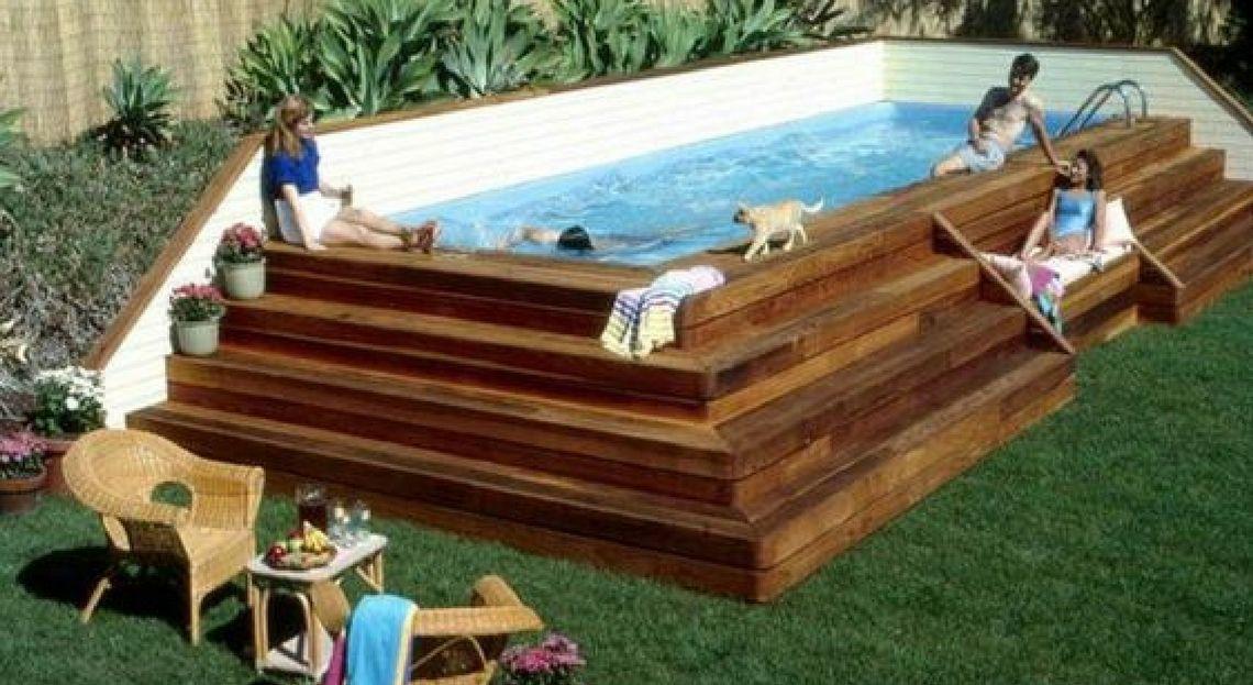 Top 25 des plus belles piscines hors sol repérées sur Pinterest - Terrasse Bois Pilotis Prix